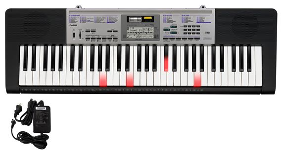 Casio LK175 61 Key Lighted Portable Keyboard with Power Supply