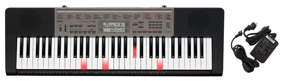 Casio LK240 61 Key Lighted Keyboard with Power Supply