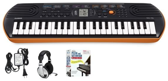 Casio SA76 44 Key Mini Personal Keyboard Learn To Play Package