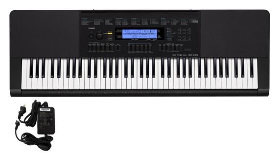Casio WK245 76 Key Workstation Keyboard with Power Supply