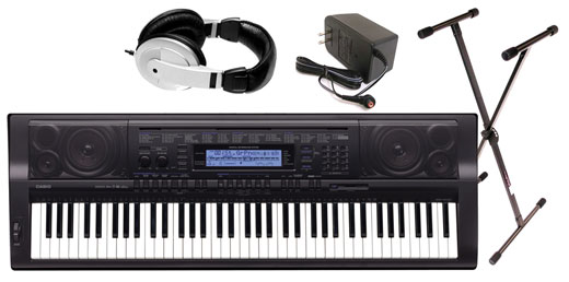 Casio WK500 76 Key Personal Keyboard Package