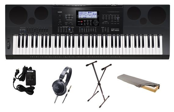 Casio WK7600 PPA 76 Key Premium Keyboard Package