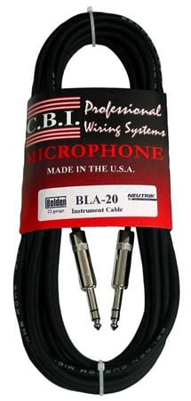 CBI BLUA15 Ultimate Series 1/4 Inch TRS to 1/4 Inch TRS Cable
