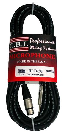 CBI BLUB6 Ultimate Series Female XLR to 1/4 Inch TRS Cable