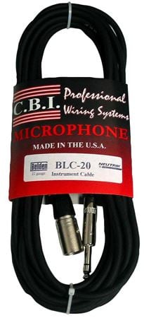 CBI BLUC6 Ultimate Series Male XLR to 1/4 Inch TRS Cable