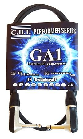 CBI GA American Made Guitar Instrument Cable 2 Right Angle