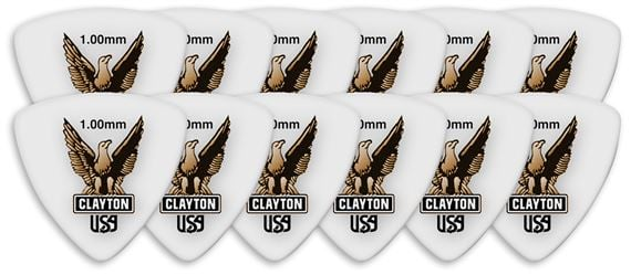 Clayton Acetal Polymer Rounded Triangle Guitar Picks 12 Pack