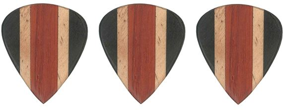 Clayton Alaia Wood Guitar Picks 3 Pack