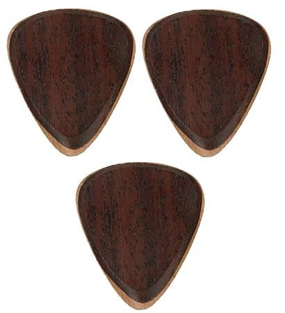 Clayton Exotic Fuse Rosewood and Steem Beech Wood Guitar Picks 3 Pack