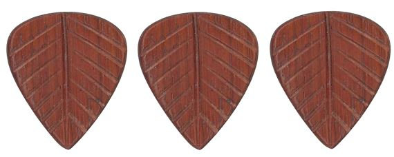 Clayton Leaf Paddock Wood Guitar Picks 3 Pack