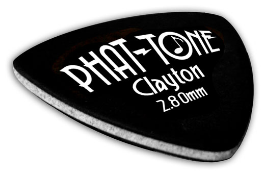 Clayton Phat Tone Rounded Triangle Picks 3 Pack