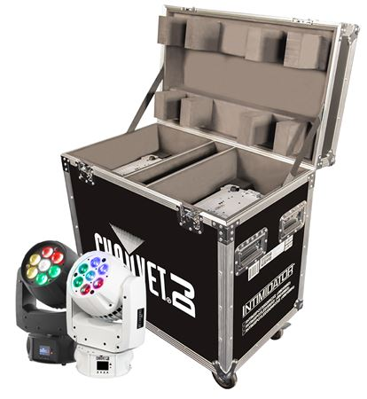 Chauvet DJ Intimidator Wash Zoom 350 IRC Effect Light Pair wCase