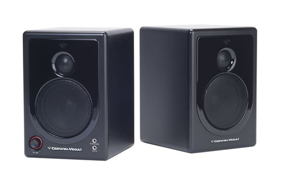 "Cerwin-Vega XD3 3"" 2 Way Powered Desktop Multimedia Speakers Pair"