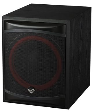 "Cerwin-Vega XLS12S 12"" 250 Watt Front Firing Powered Subwoofer"