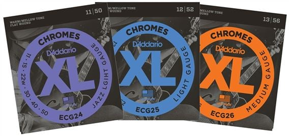 D'Addario XL Chromes Flatwound Electric Guitar Strings