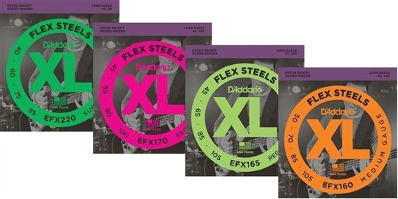 D'Addario EFX FlexSteels Roundwound Bass Guitar Strings