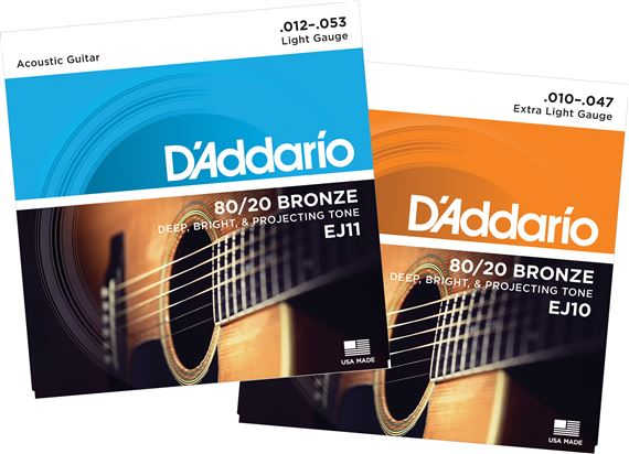 D'Addario EJ10 80/20 Bronze Acoustic Guitar Strings