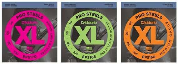 D'Addario EPS XL ProSteels Electric Bass Guitar Strings
