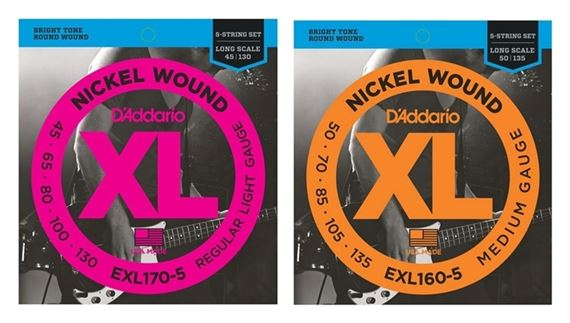 D'Addario EXL160-5 XL Nickel Wound 5 String Bass Guitar Strings