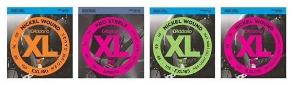 D'Addario EXL170 Nickel Wound Electric Bass Guitar Strings Long Scale