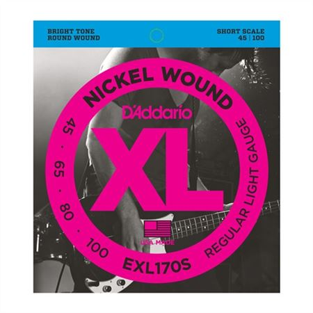 D'Addario EXL170S XL Nickel Wound Bass Guitar Strings