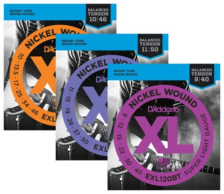 D'Addario EXL BT Balanced Tension Nickel Wound Electric Guitar Strings