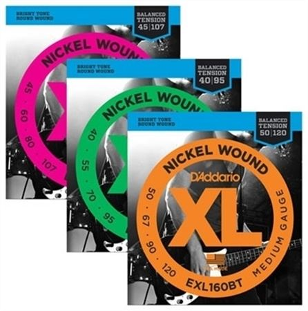 D'Addario EXL BT Balanced Tension Nickel Wound Electric Bass Strings