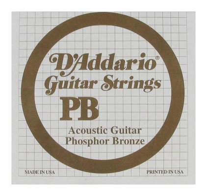 DAddario PB025 Phosphor Bronze Wound Single Acoustic Guitar String - DAD PB025