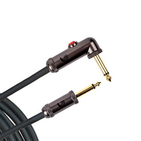 D'Addario PW-AGLRA Circuit Breaker Instrument Cable Right Angle