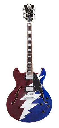 Dangelico Premier Grateful Dead Signature DC Electric Guitar with Bag
