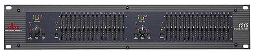 dbx 1215 Dual Channel 15 Band 2/3 Octave Graphic Equalizer