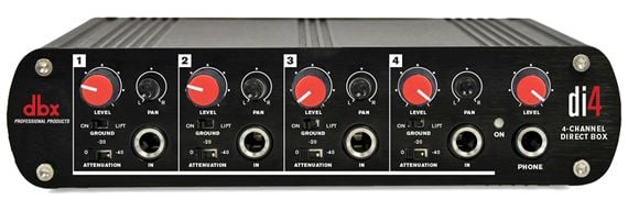 dbx DI4 4 Channel DI Direct Injection Box With Line Mixer