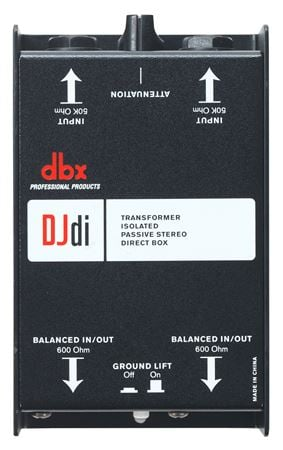 dbx DJDI 2-Channel Transformer Isolated Passive Direct Box