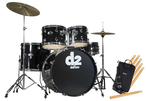 Ddrum D2 5 Piece Drum Set with Cymbals and Throne