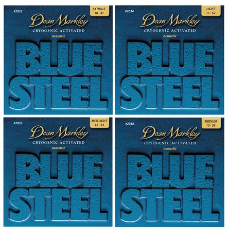 Dean Markley Blue Steel Cryogenic Activated Acoustic Strings