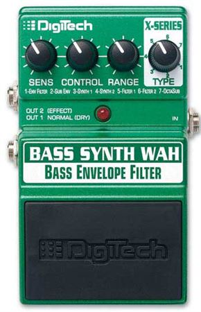DigiTech Bass Synth Wah Envelope Filter Pedal