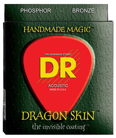 DR Dragon Skin K3 Coated Phosphor Bronze Acoustic Strings
