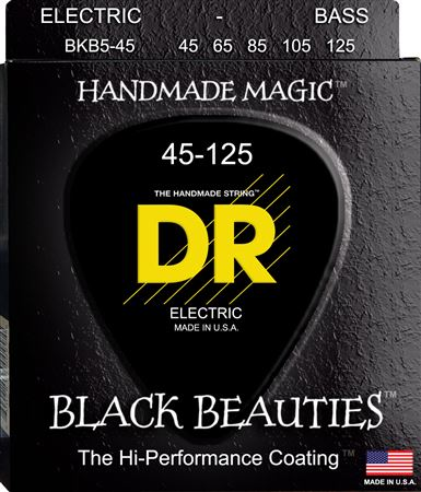 DR Strings BKB545 Black Beauties Coated Bass Strings 5 String