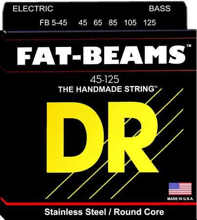 DR Strings FB545 Fat Beams Electric Bass Guitar Strings