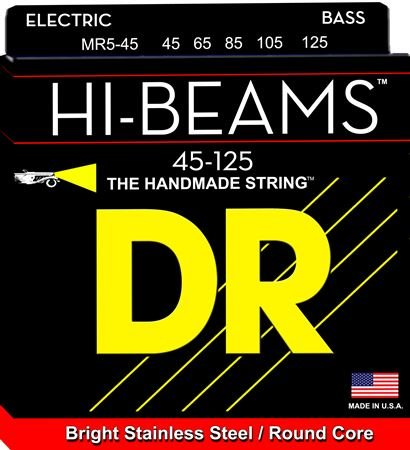 DR Strings MR545 Hi Beam 5-String Electric Bass Guitar Strings