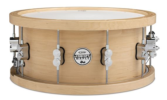 Pacific Concept Maple 5.5x14 20 Ply Wood Hoop Snare Drum Natural