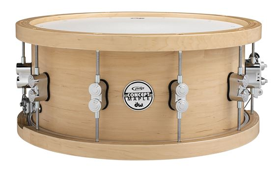 Pacific Concept Maple 6.5x14 20 Ply Wood Hoop Snare Drum Natural