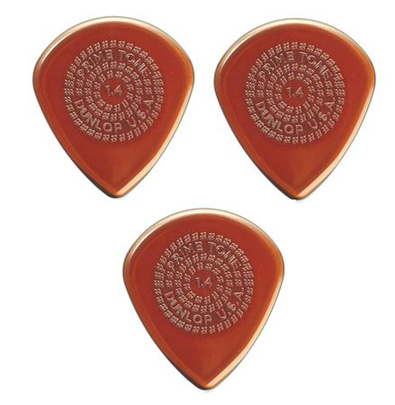 Dunlop 518R Primetone Jazz III Sculpted Plectra Picks 3 Pack