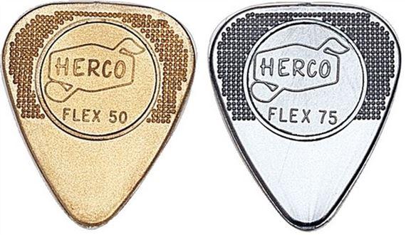 Dunlop HE210 Herco Nylon Flex Flat Guitar Picks 12 Pack