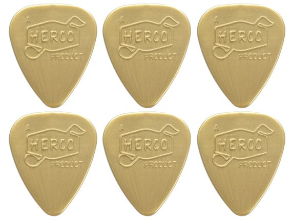 Dunlop HEV210P Herco Vintage 66 Nylon Picks - 6 Pack