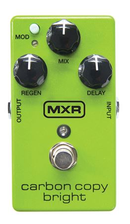 MXR Carbon Copy Bright Analog Delay Effects Pedal