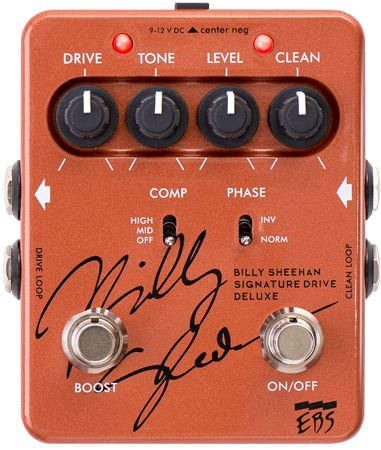 EBS Billy Sheehan Signature Bass Drive Deluxe Bass Pedal