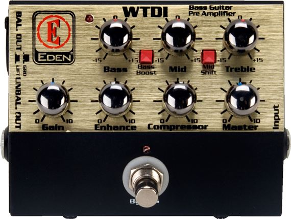 Eden WTDI World Tour Bass DI Preamp Pedal