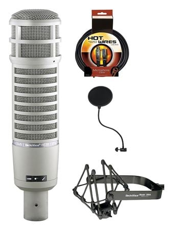 Electro-Voice RE20 Bundle With Pop-Filter Mic Cable And Shockmount