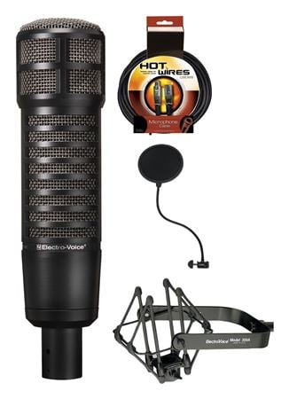 Electro-Voice RE320 Bundle With Pop-Filter Mic Cable And Shockmount